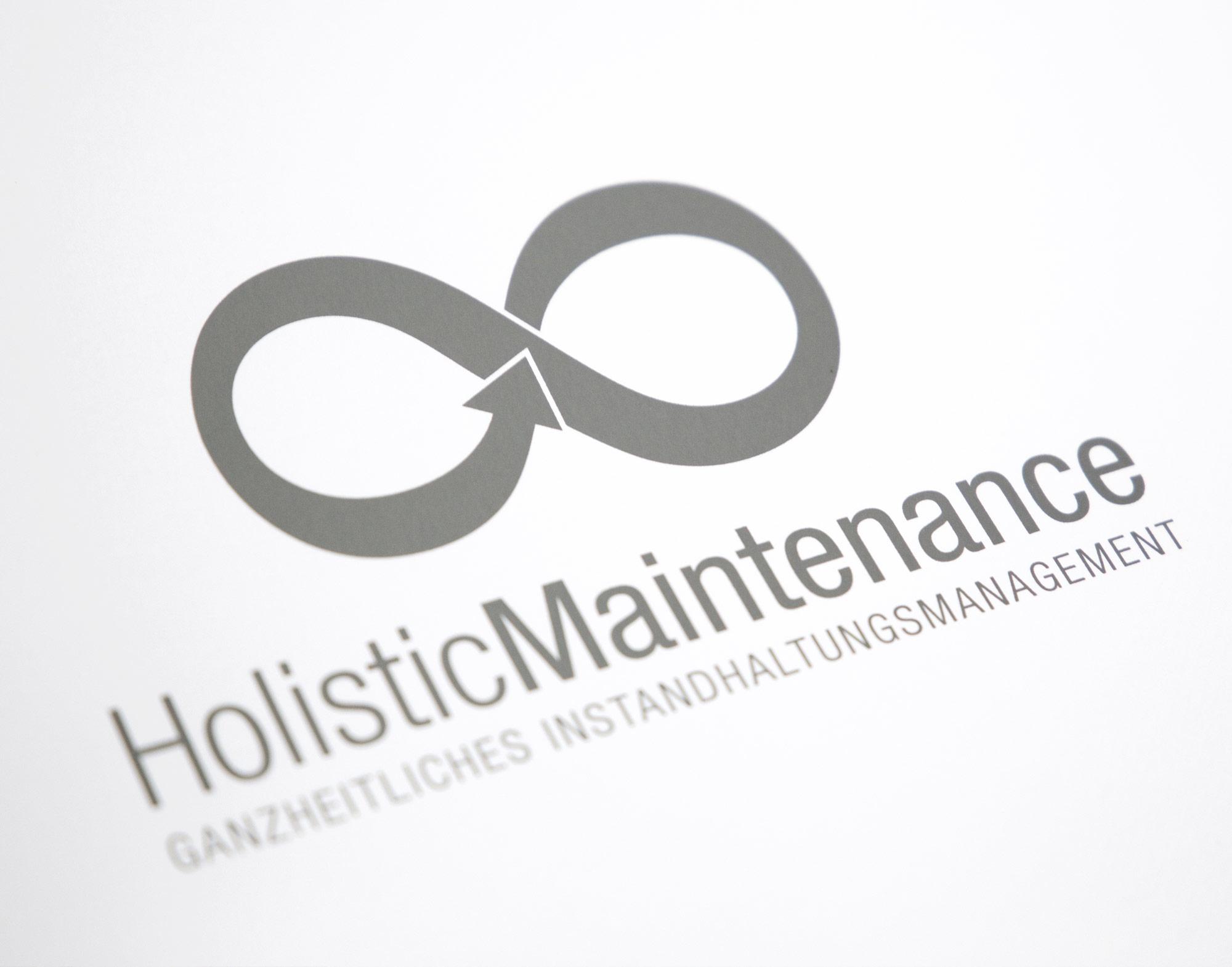 Holistic Maintenance Logo u. Broschüre Schnorrenberg Chirurgietechnik