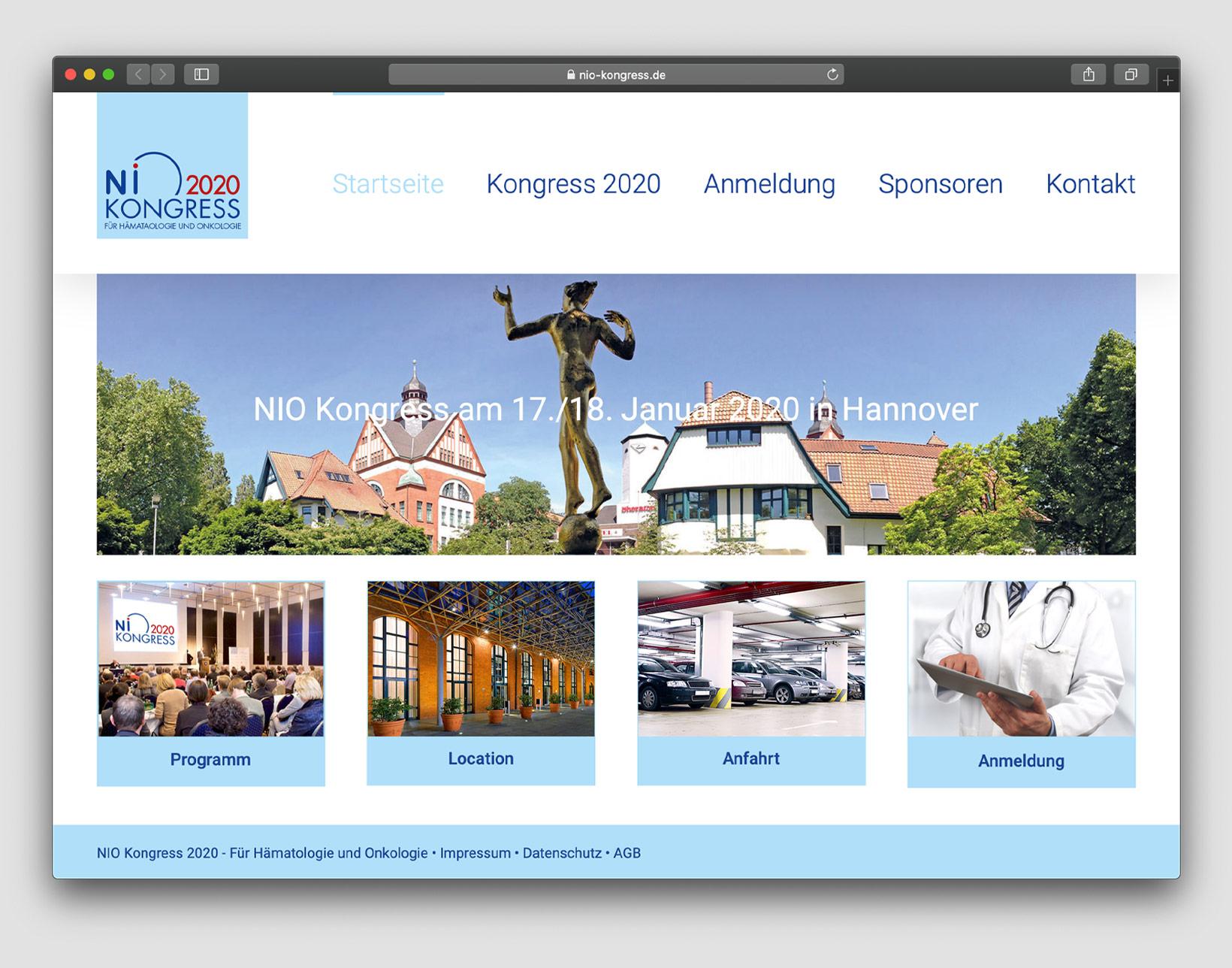 NIO-Kongress für Hämatologie und Onkologie Website