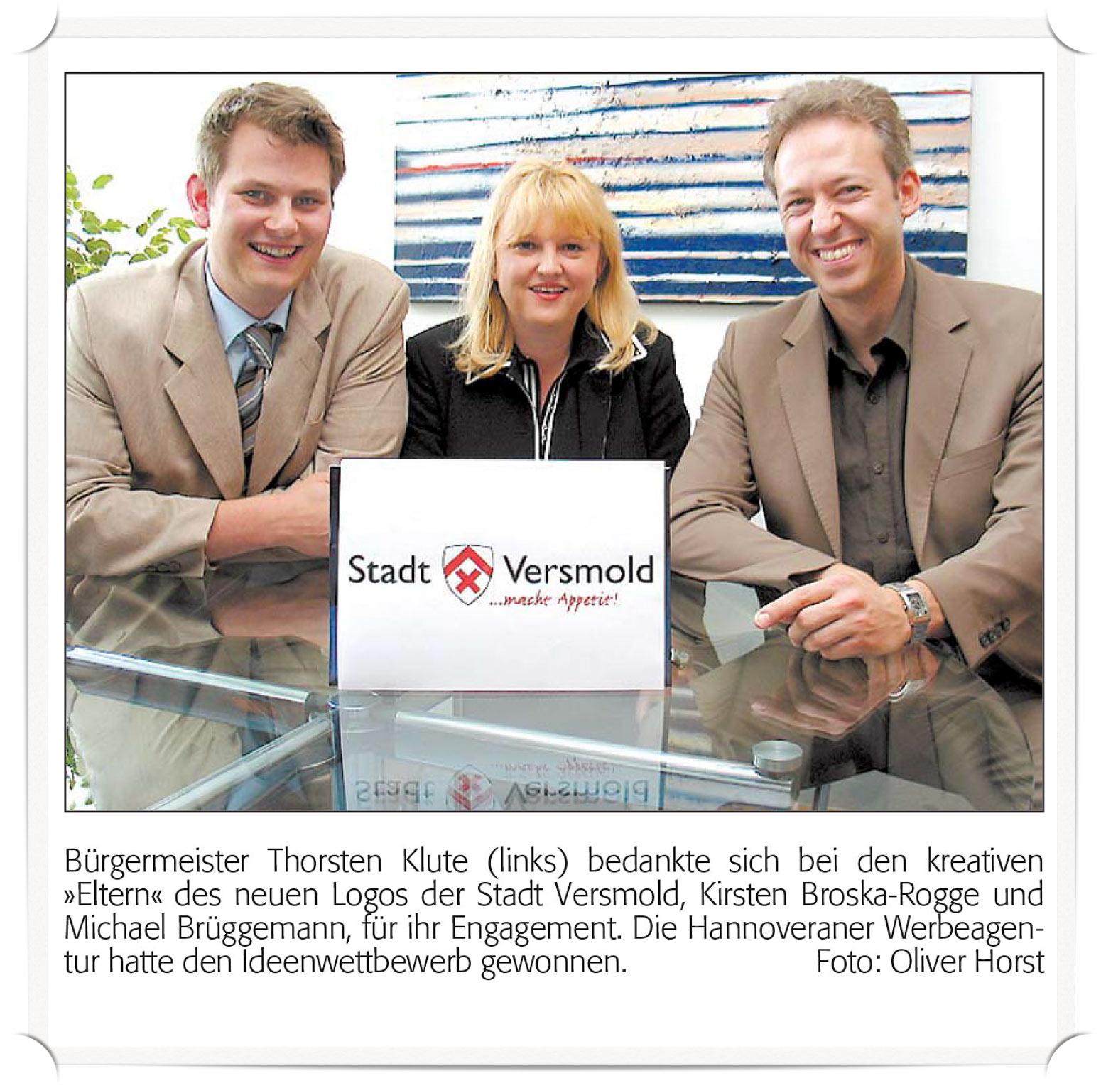 Logopräsentation Stadt Versmold