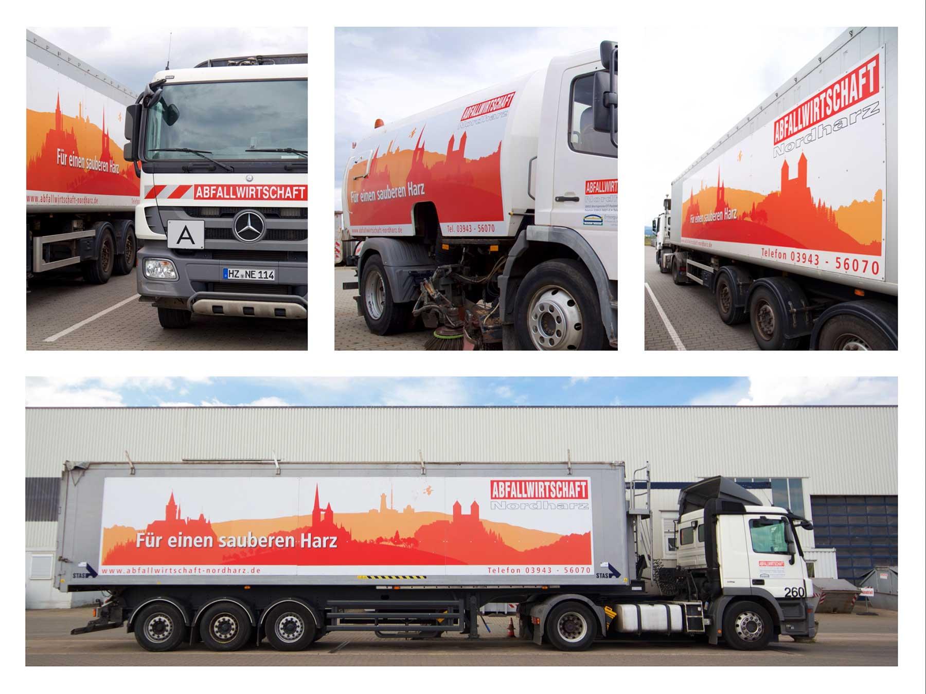LKW-Plakatierung der Abfallwirtschaft Nordharz GmbH