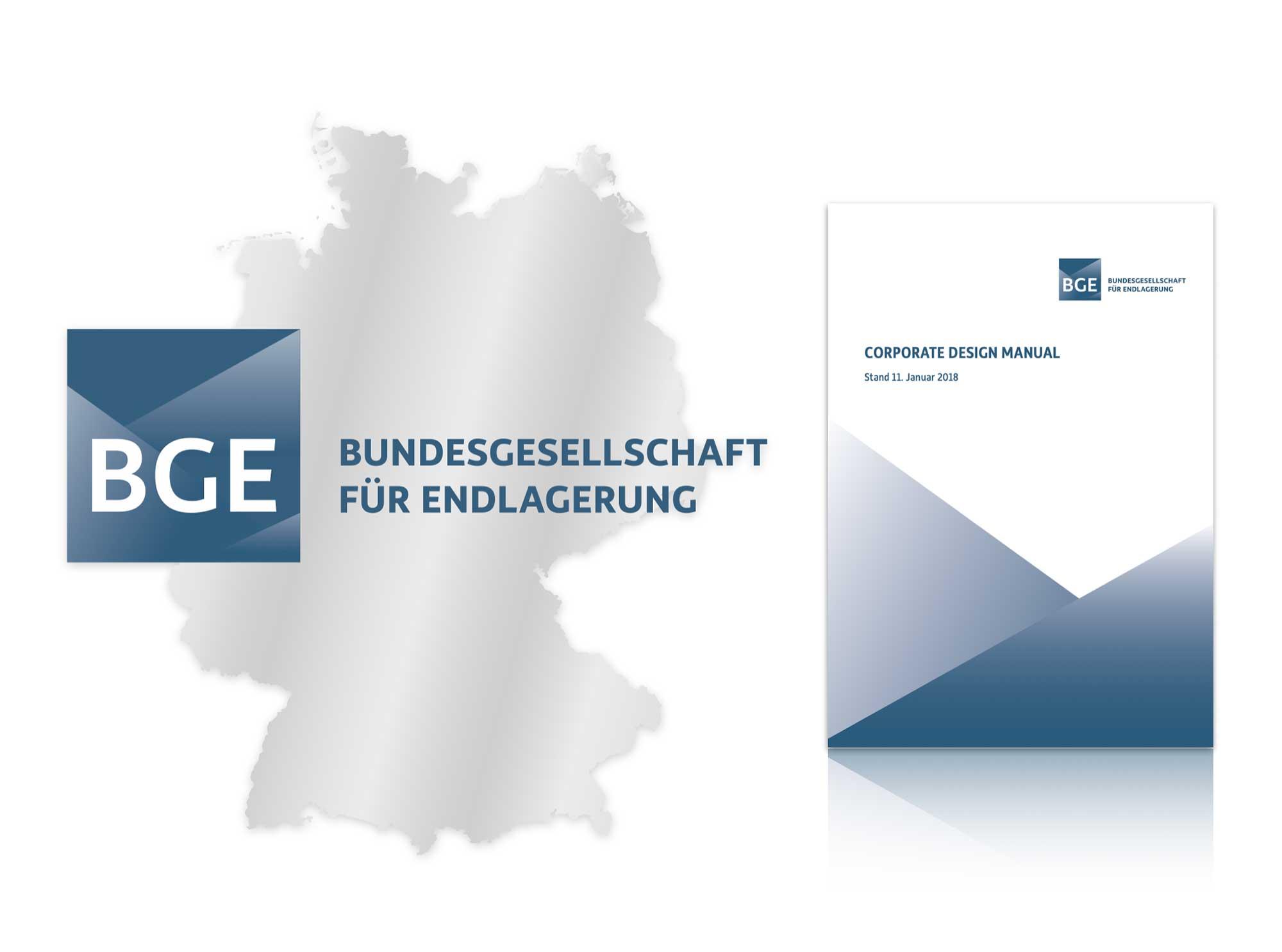Corporate Design der BGE Bundesgesellschaft für Endlagerung