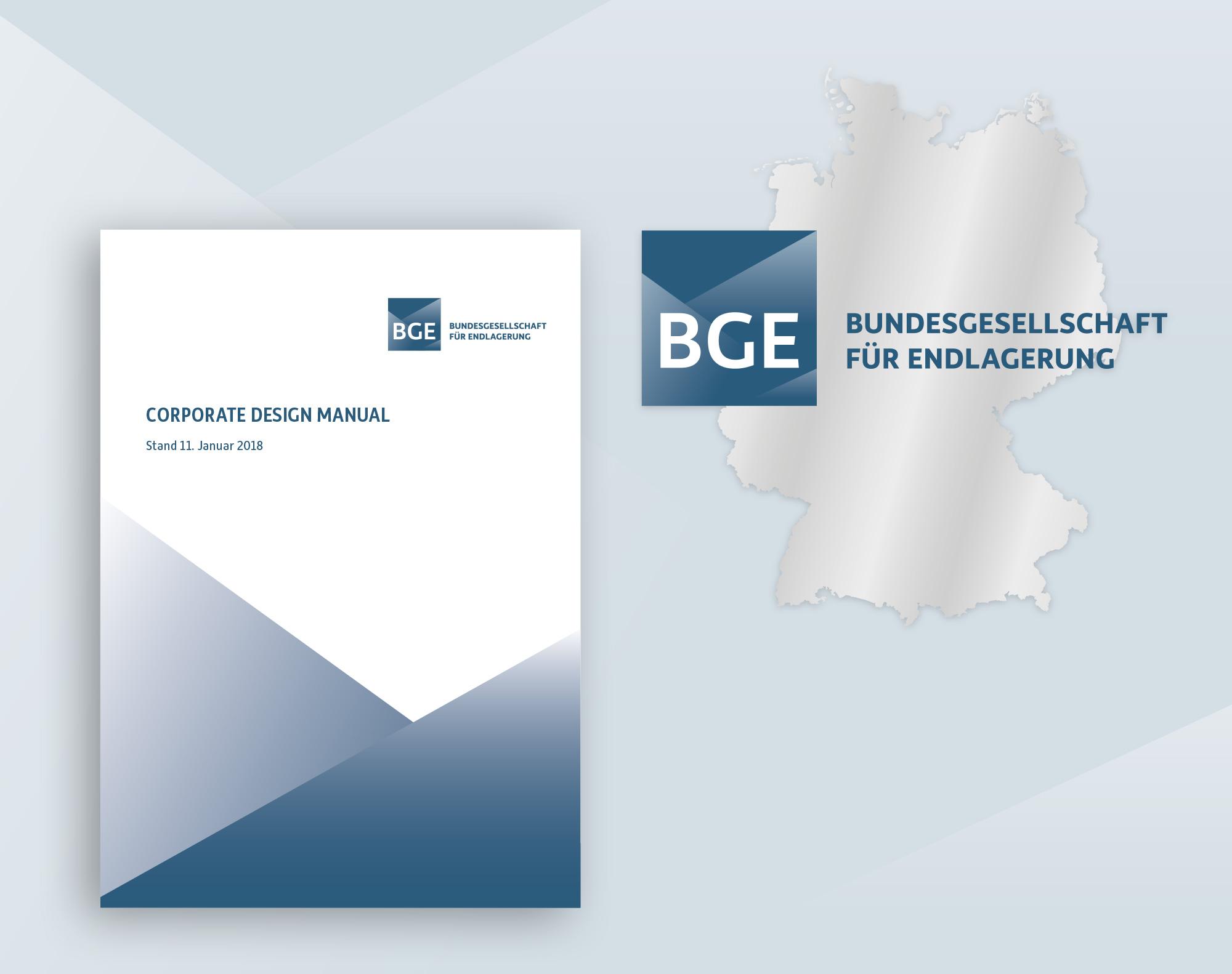 Logo und Corporate Design BGE Bundesgesellschaft für Endlagerung