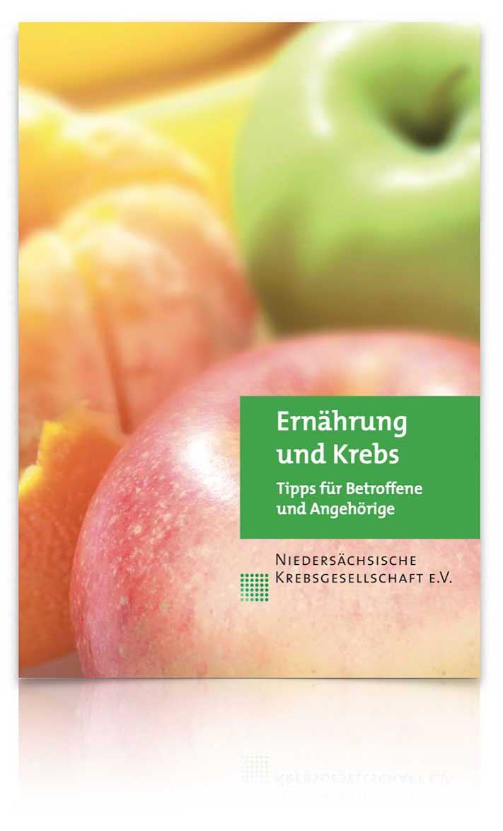 """Broschüre """"Ernährung und Krebs"""" der Niedersächsischen Krebsgesellschaft e. V."""