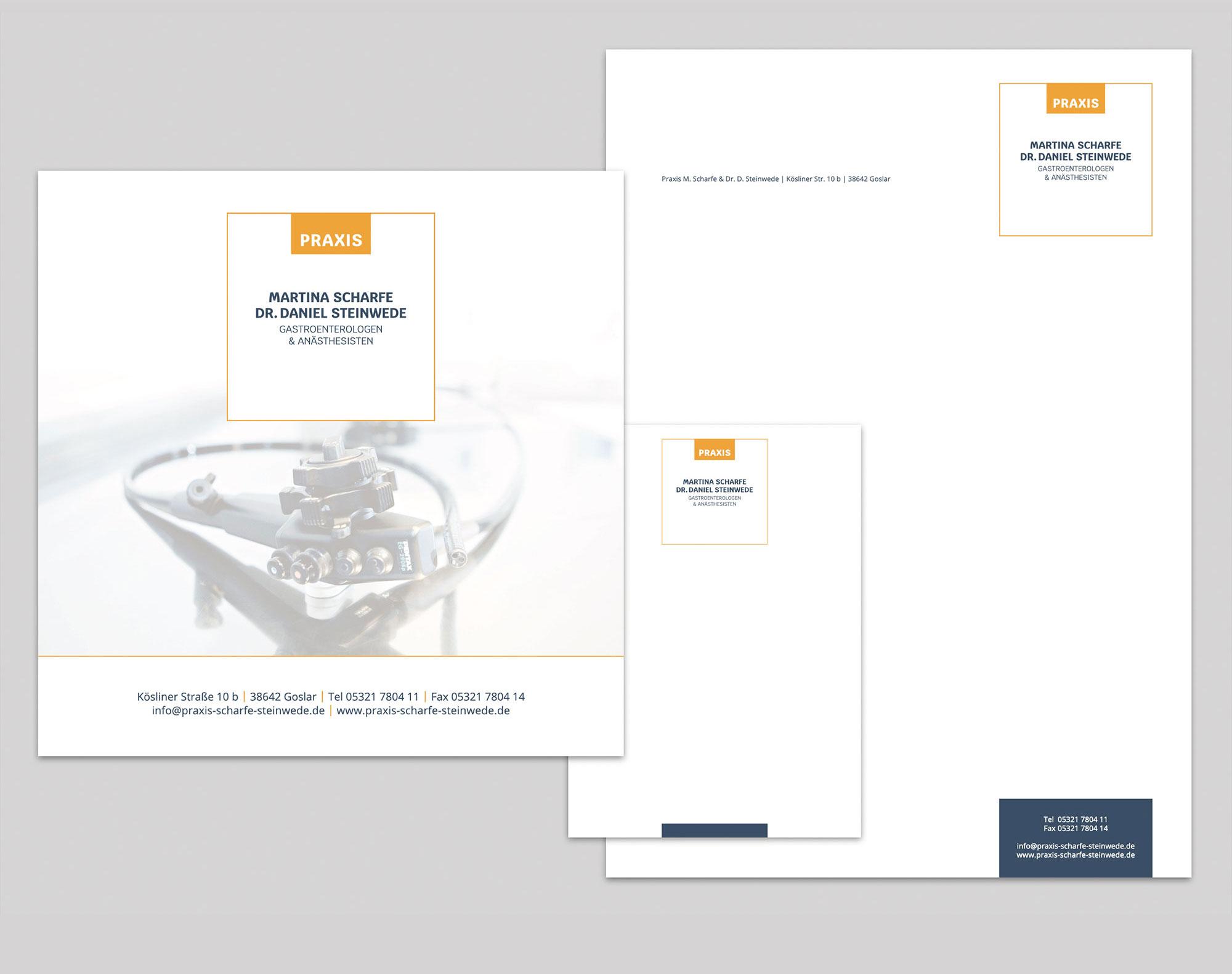 Corporate Design Praxis Martina Scharfe Dr. Daniel Steinwede Gastroenterologen & Anästhesisten