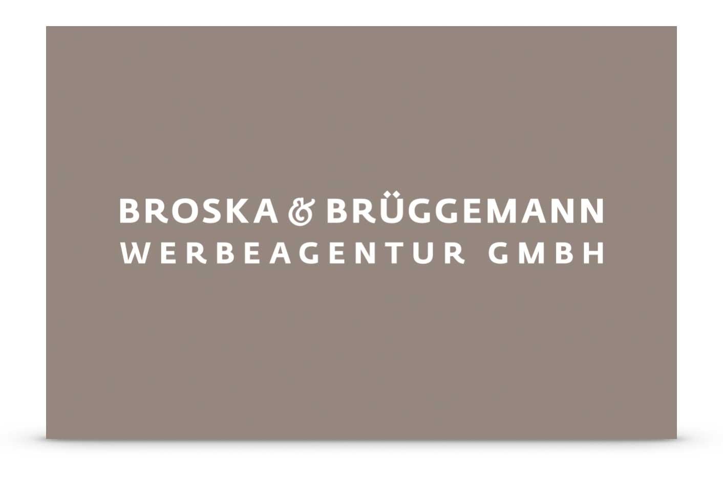 Logo Broska & Brüggemann Werbeagentur GmbH