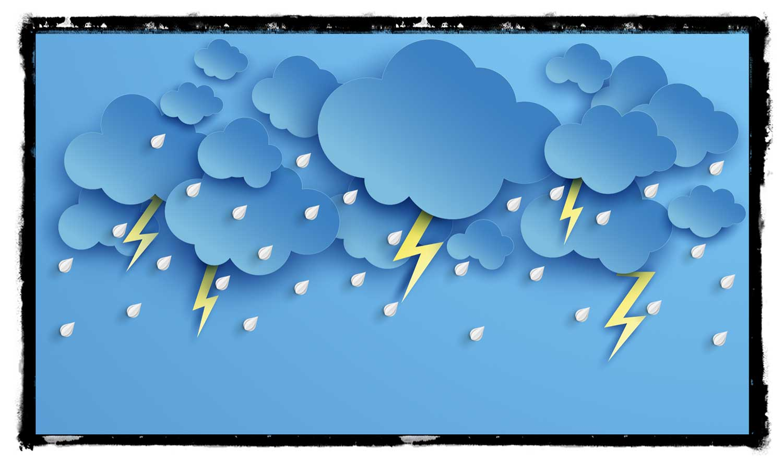 Unwetter über Hannover