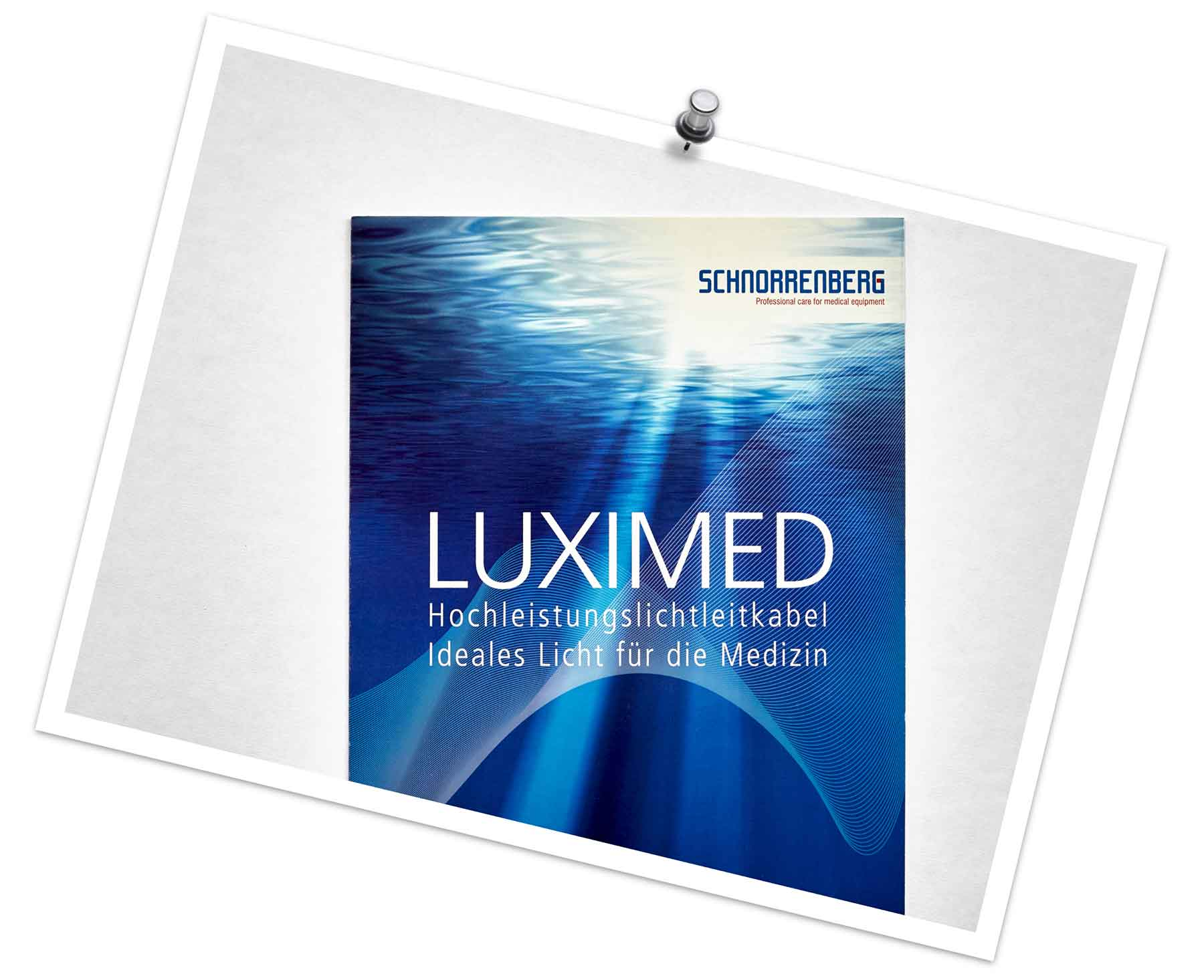 """Broschüre """"LUXIMED"""" der Firma Schnorrenberg Chirurgietechnik"""