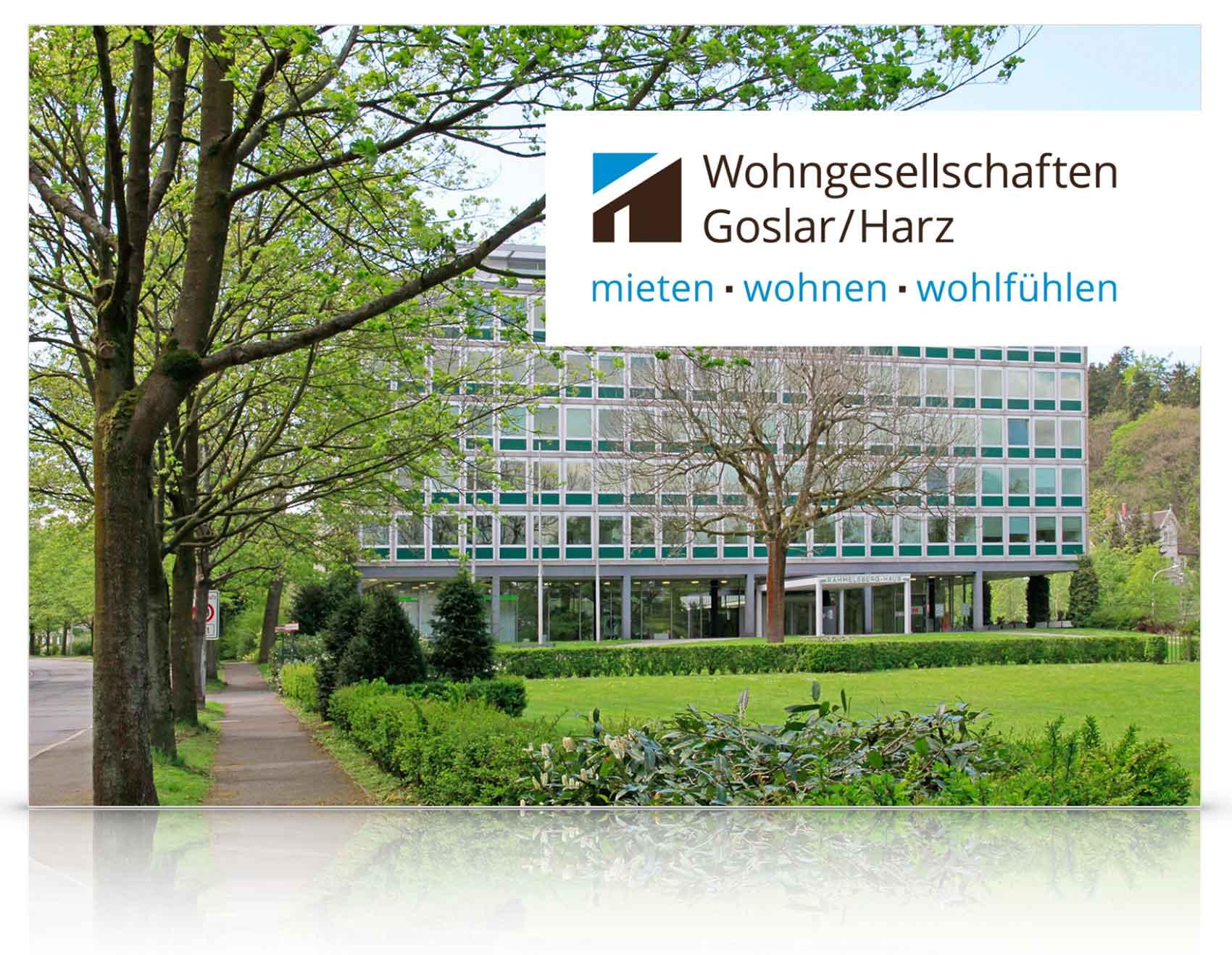 Logo und Corporate Design-Entwicklung Wohngesellschaften Goslar/Harz